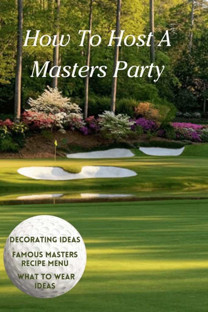 dinner party themes: MASTERS party ideas, with golf course picture
