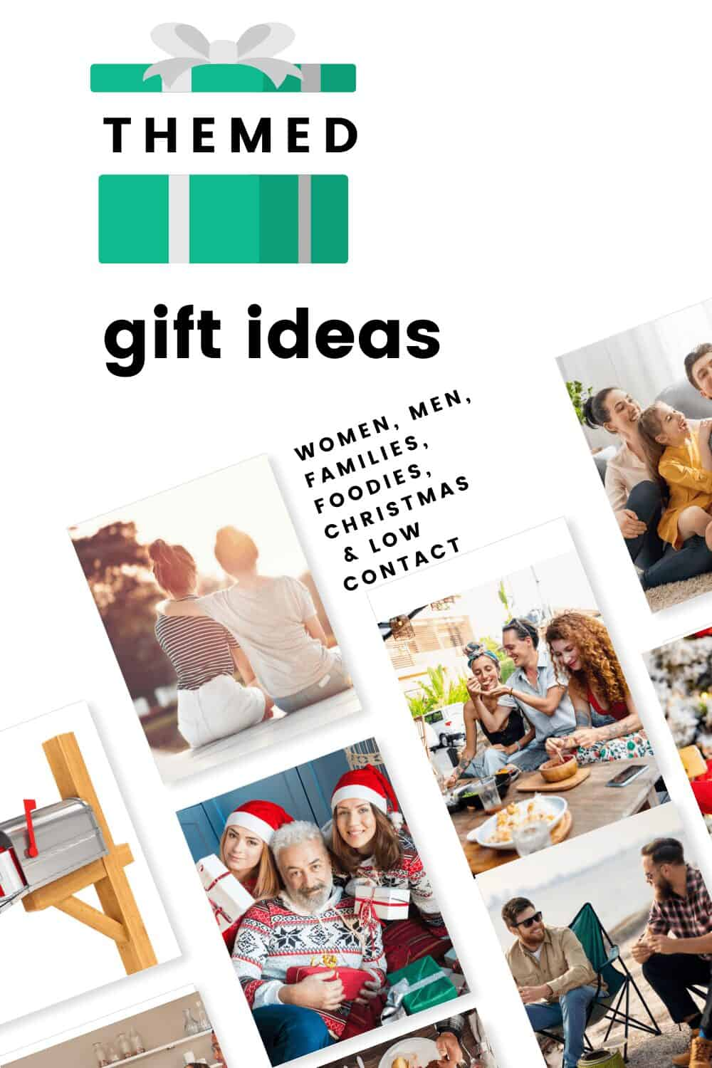 themed gift ideas present and people getting gifts