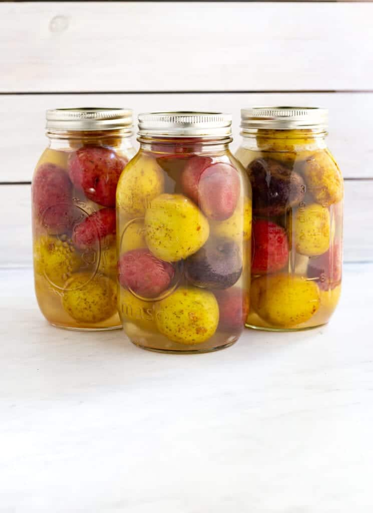pressure canning potatoes with small potatoes in quart jars