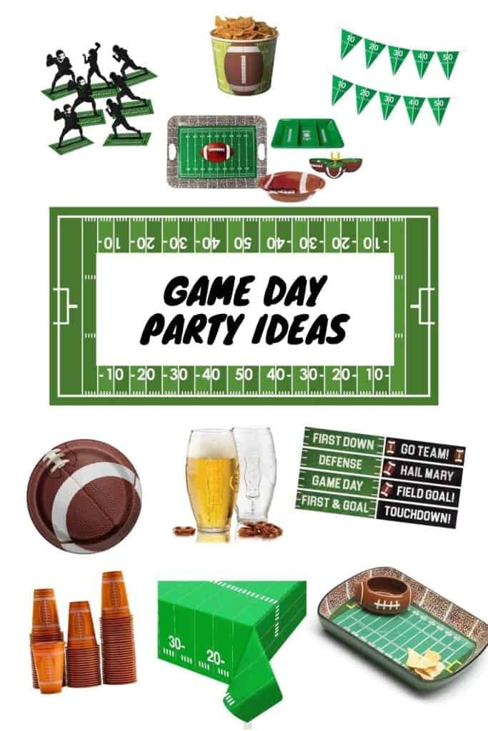 game day party food decorations