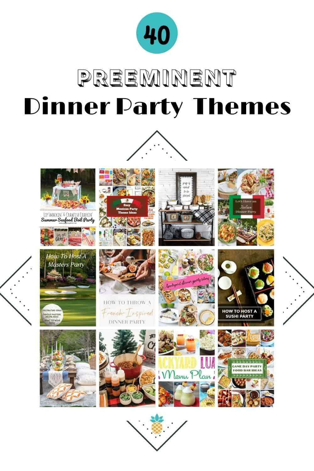different dinner party themes pictures