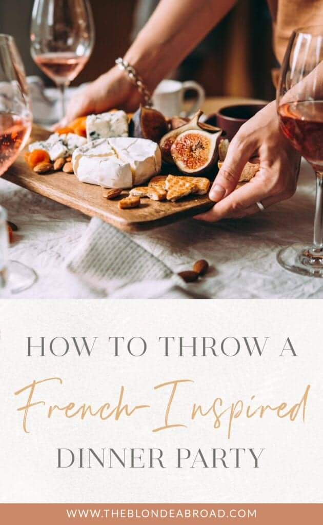 dinner party themes, french theme with cheese and figs and wine